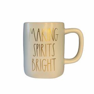 NWT Rae Dunn Making Spirits Bright Christmas Mug